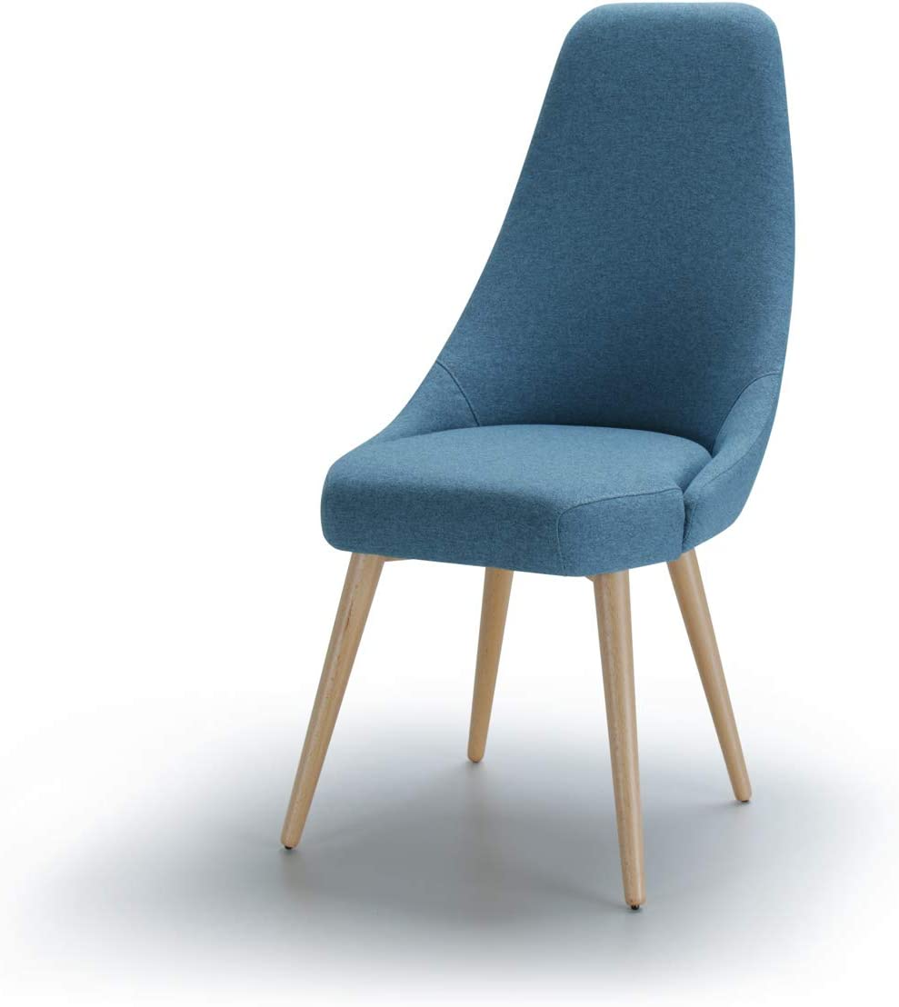 Amazon Brand Alkove Albert Modern Upholstered Accent Dining Chair 51 X 66 X 104cm Blue With Beech Legs Amazon Co Uk Kitchen Home