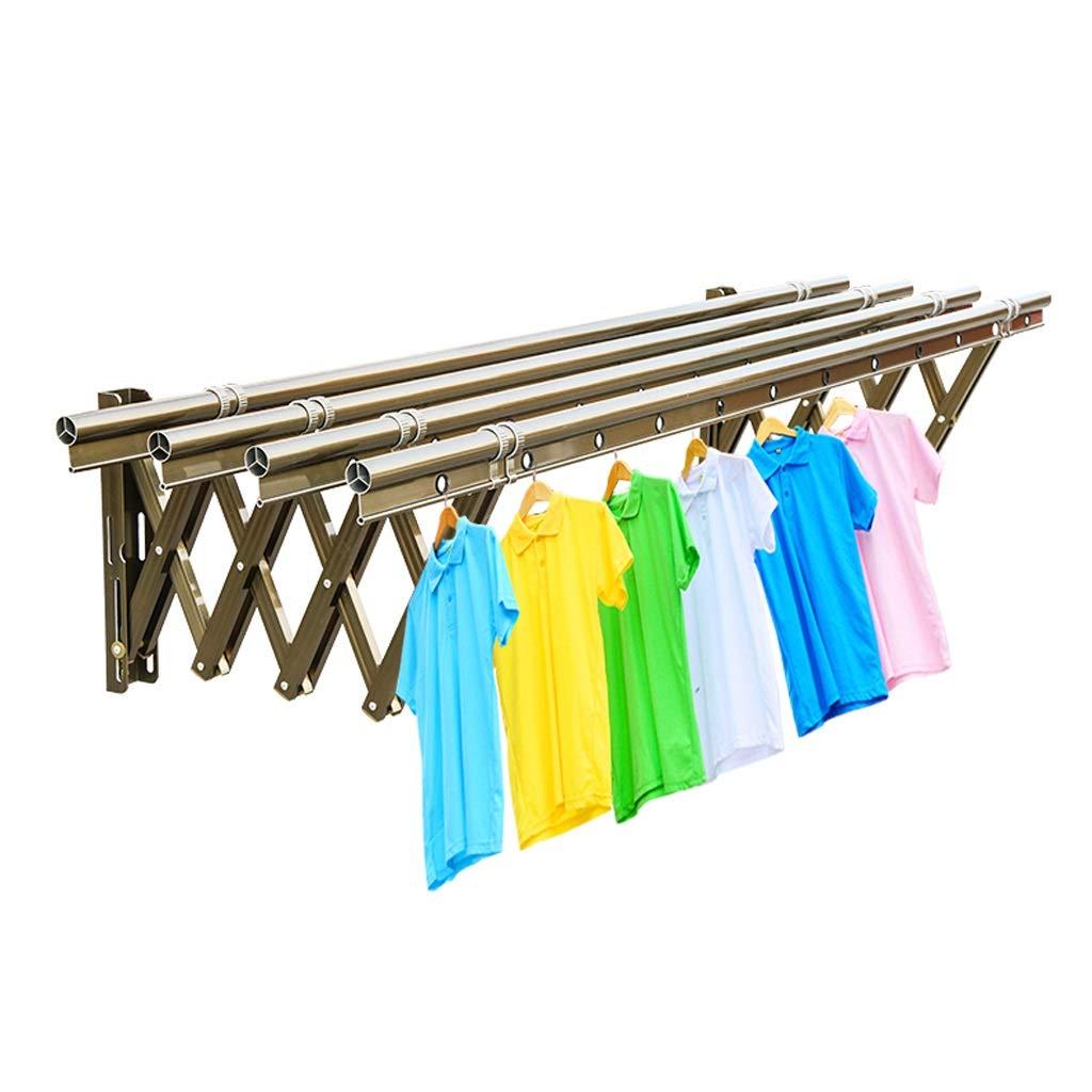 折りたたみ式衣類乾燥ラック、屋内外の使用のための壁に取り付けられたアルミ合金の洗濯乾燥ラック、4 39.4