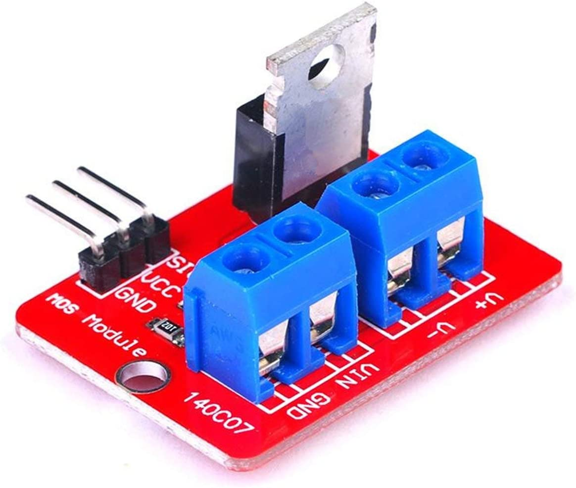 5pcs 0-24V Top Mosfet Button IRF520 MOS Driver Module for MCU ARM Raspberry pi