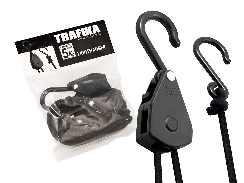 85f2c19a64d TRAFIKA Lighthangers Poleas con 5kg de Capacidad de sujección. Aptas para  Reflectores y Filtros de carbón Ligeros de Armarios de Cultivo  Interior Grow ...