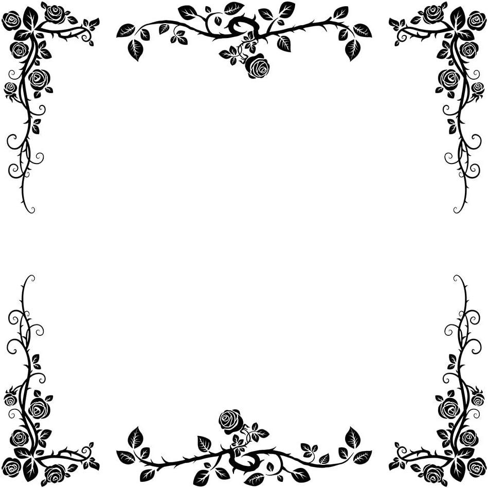 pour Scrapbooking UNWSTYU Cadeau Artisanal Tampon en Silicone Transparent gaufrage Album Photo d/écoratif en Papier Motif Fleurs en Dentelle