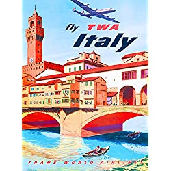 Florence Italy Airplane Italian Europe Vintage Travel Advertisement ArtPoster