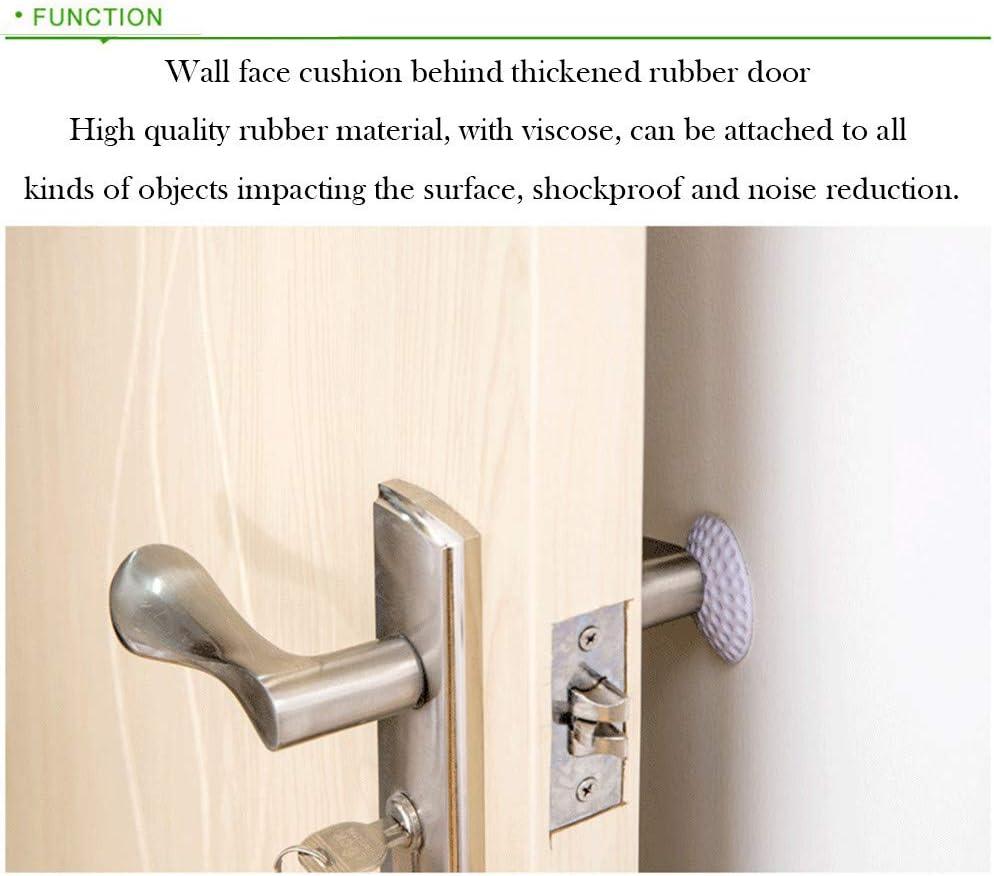 White for St.Patricks Day Xisheep Crash Pad,2Pcs Rubber Home Door Doorknob Back Wall Protector Savior Crash Pad Kitchen Dining Bar