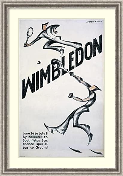 Amazon.com: Framed Art Print \'Wimbledon\' by Sybil Andrews: Posters ...