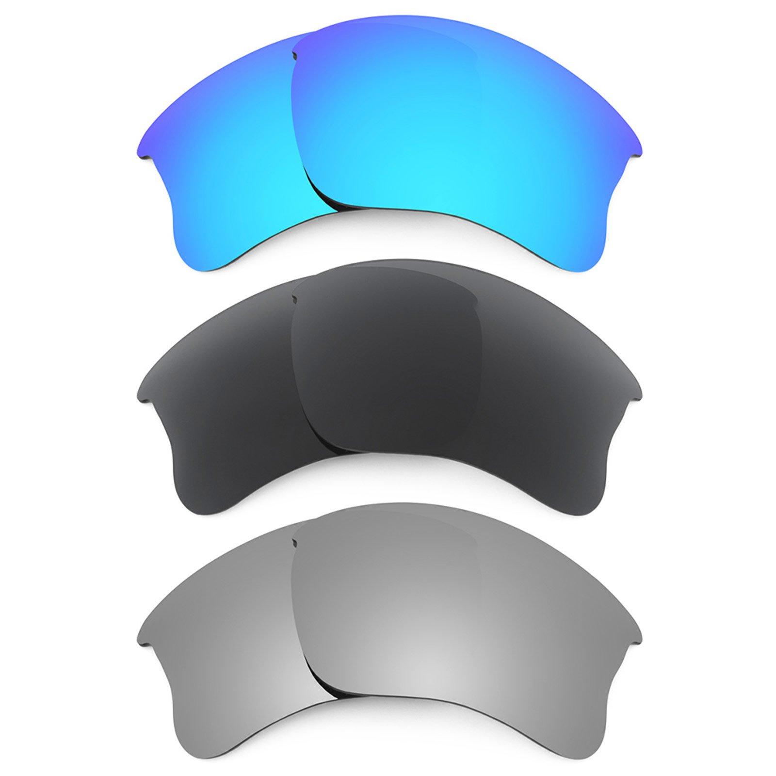 Revant Replacement Lenses for Oakley Flak Jacket XLJ 3 Pair Combo Pack K015