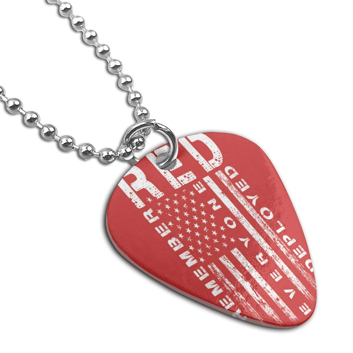 Remember Everyone Deployed Guitar Pick Necklace Unique Custom Fashion Pet Card Keychain