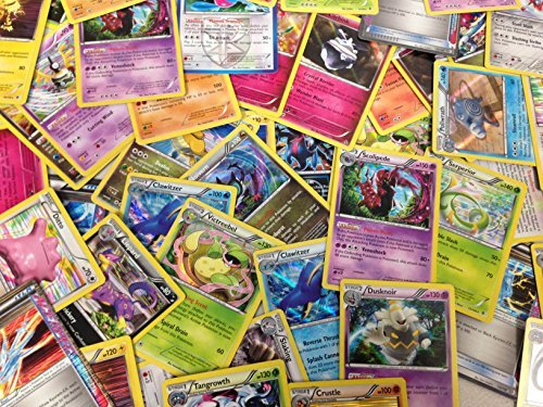 50 Assorted Pokemon Cards with Bonus Holo Foils