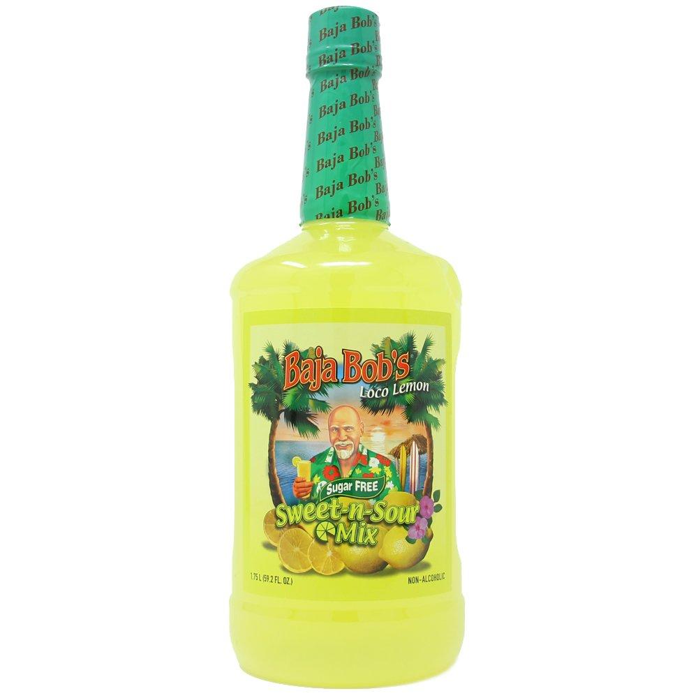 Baja Bob's Sugar Free SWEET AND SOUR Mix - 1.75 Liter - Cocktail Mix by Baja Bob's