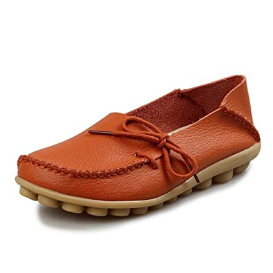 Cuir Plates Mocassins en Chaussures KEREE Oxford pour Femme w08nkOP