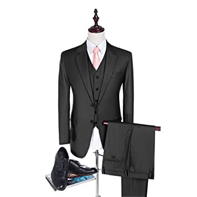 Slim Fit Men Suits Dark Grey Wedding Suits For Best Men 2018 Fashion ...