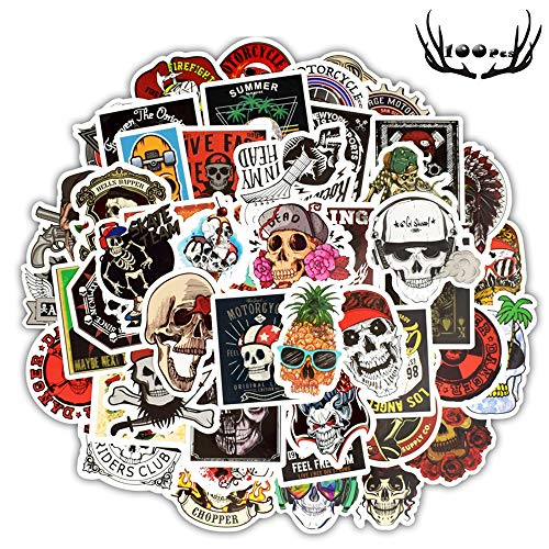 Sticker Pack (100-Pcs), 50 Styles Graffiti Sticker Decals Cool Sticker Vinyls for Laptop Waterproof Stickers Pack Car Stickers Motorcycle Bicycle Luggage Decal Graffiti Patches Skateboard ()