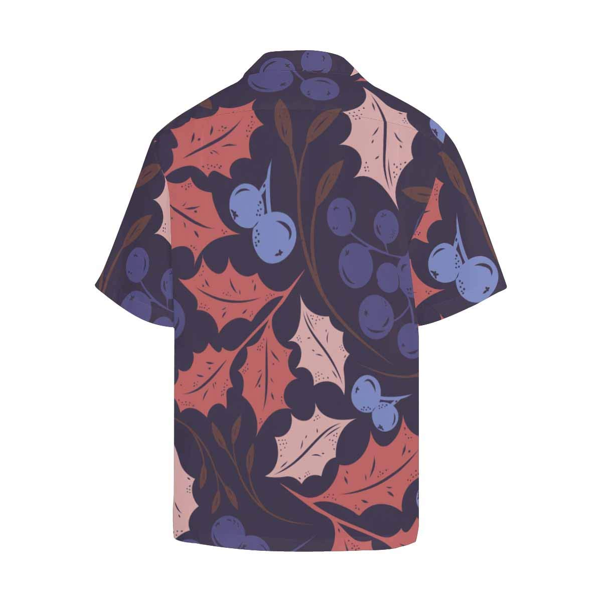 InterestPrint Comfortably Collared Floral Leaves Casual Shirts V-Neck Short Sleeve Beach Top