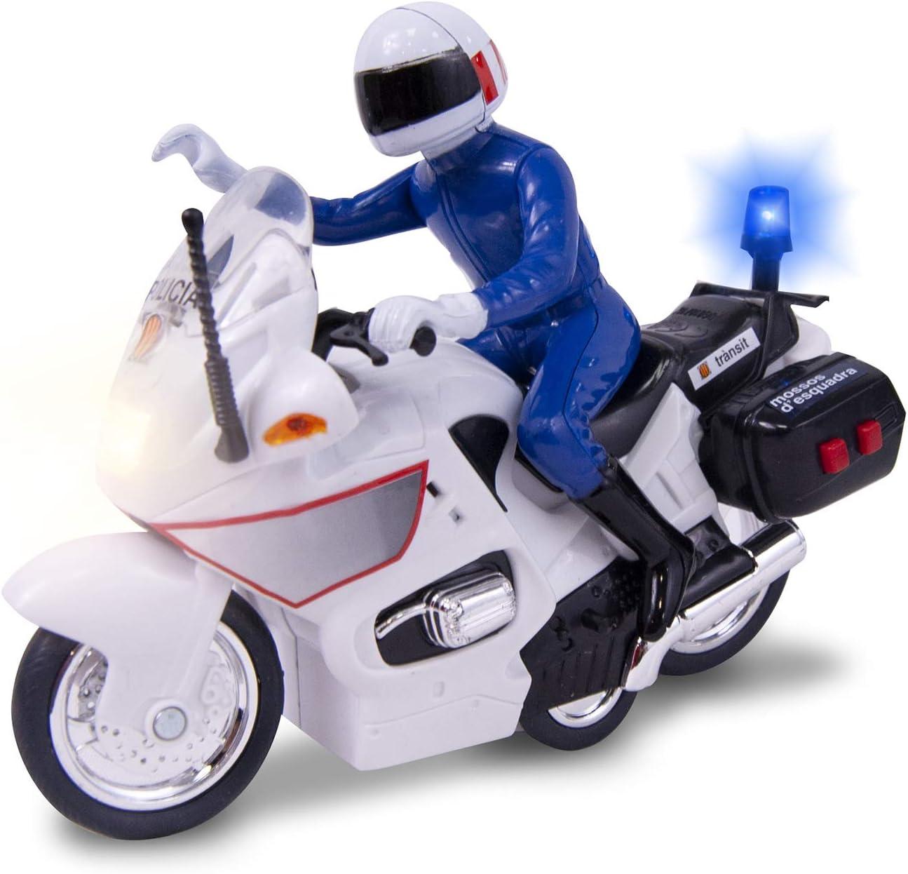 Moto Mossos de 15cm con luz y sonido (Dickie 1152004) , color/modelo surtido