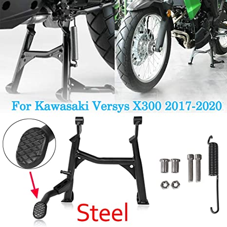 Motorcycle 17 18 19 Versys X-300 Black Centerstand Center Kickstand Foot Center Stand Support For Kawasaki Versys X300 Versys-X300 2017 2018 2019 2020