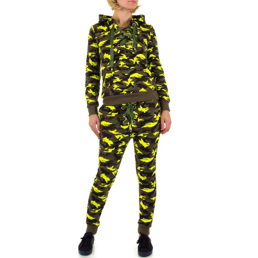Ital-Design 2 Teiler Camouflage Freizeit Overall F/ür Damen