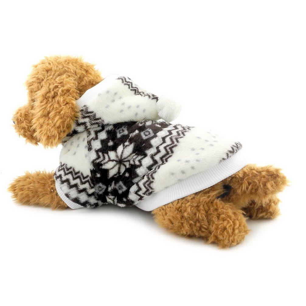 Cikonielf Ropa para Mascotas para Cachorros Ropa General para Cachorros Oto/ño Invierno S Ropa para Perros de Felpa Suave Sudadera con Capucha Atuendo Sudaderas con Capucha para Perros peque/ños