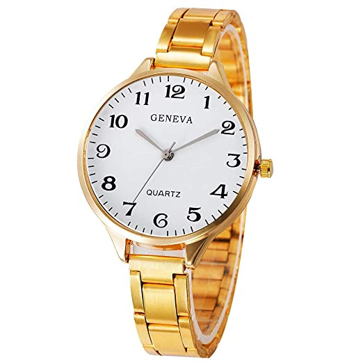 Dylung Reloj Relojes para Mujer Dama Fashion Reloj de Pulsera de Mujeres Women Watches Analógico Cuarzo de Moda de Acero Inoxidable del Estilo Retro Simple ...