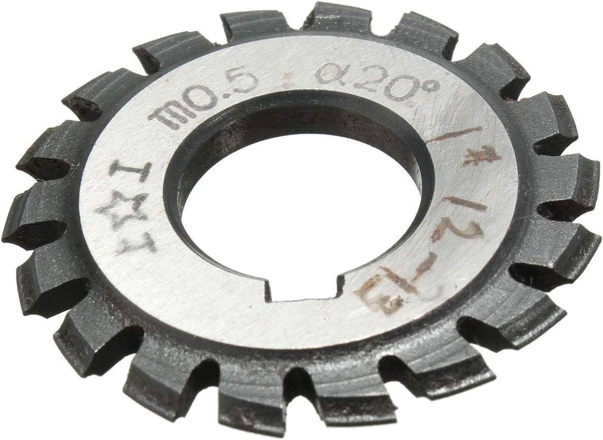 Cutting Edge Diameter : 1 Modul 0,5 M0,5 PA20 Grad Bohrung 16mm # 1-8 HSS Involute Zahnradfr/äser Hochgeschwindigkeitsstahlfr/äser Zahnradschneidwerkzeuge GENERICS LSB-Werkzeuge