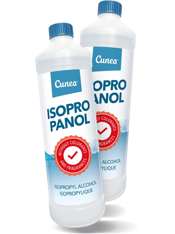 Alcool isopropilico 99, 9% Isopropanolo per la pulizia e Igiene 3 x 750 ml Cunea