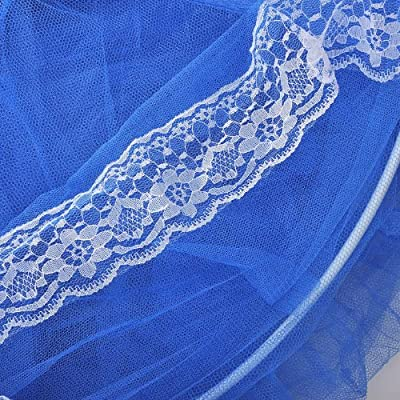 Housweety Blue New Elegant Round Lace Curtain Dome Bed Canopy Netting Mosquito Net