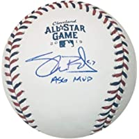 $199 » Shane Bieber Cleveland Indians Autographed 2019 All Star Game MVP Signed Baseball Beckett BAS COA With UV Display Case