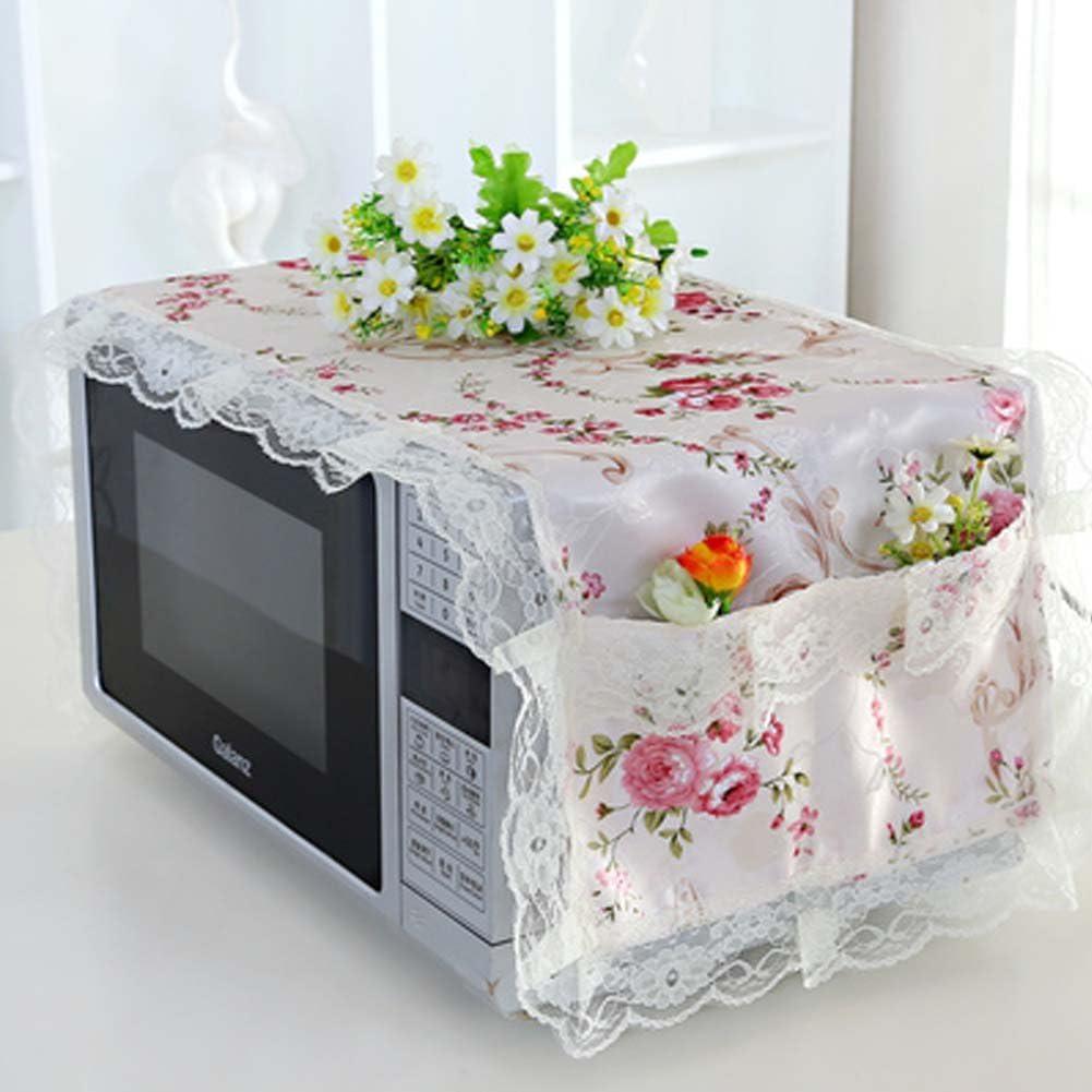 Amazon.com: Diseño elegante flores Horno Microondas Cubierta ...