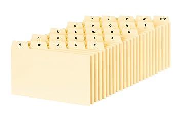 Amazon.com : Oxford A-Z Index Card Guide Set, 3 x 5 Inches, Manila ...