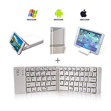lolly-U Teclado Inalámbrico BK-228 Bluetooth Teclado Portátil y Plegable para MacBook para Tabletas iOS/Android / Windows Phone: Amazon.es: Electrónica