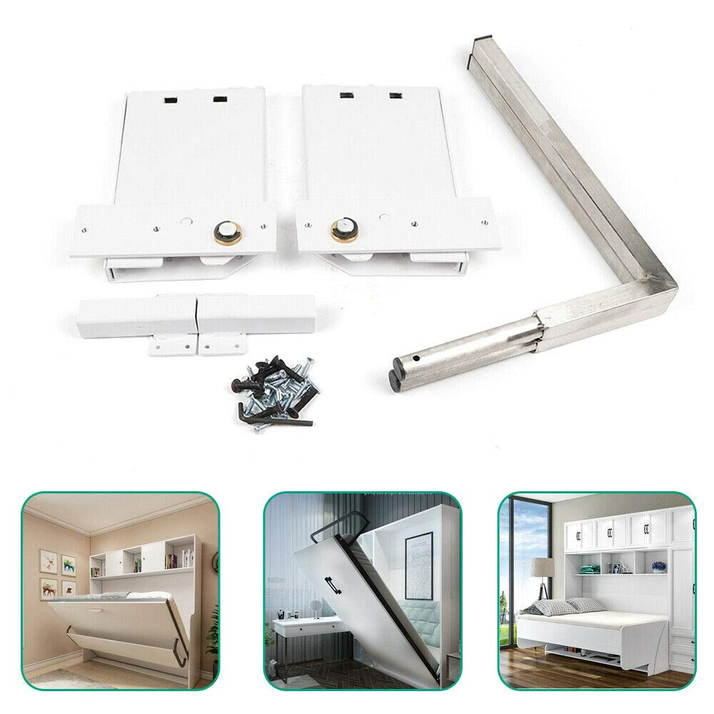 TFCFL DIY Murphy Wall Bed Springs Mechanism Hardware Kit Horizontal Wall Bed Mounting