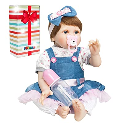 JOYMOR Reborn Baby Doll 22 Inch Lifelike Realistic Vivid Real Looking Dolls Birthday Gift Washable Soft Body Lovely Simulation Reborn Vivid Baby Doll: Toys & Games [5Bkhe0800368]