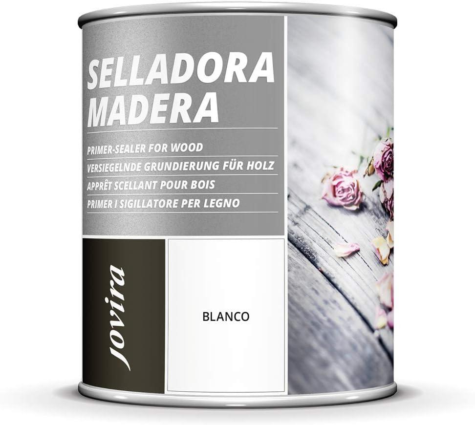 IMPRIMACION MADERA SELLADORA Imprimación Sintética Blanca. (750 ml, BLANCO)