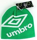 jelly beanie - Umbro Logo Uncuffed Rib Knit Hat (Jelly Bean/White)