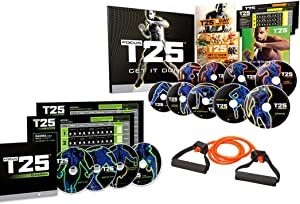 ZONEV Focus T25 Shaun T DVD Videos,25 Minutes Workouts Fitnes Program