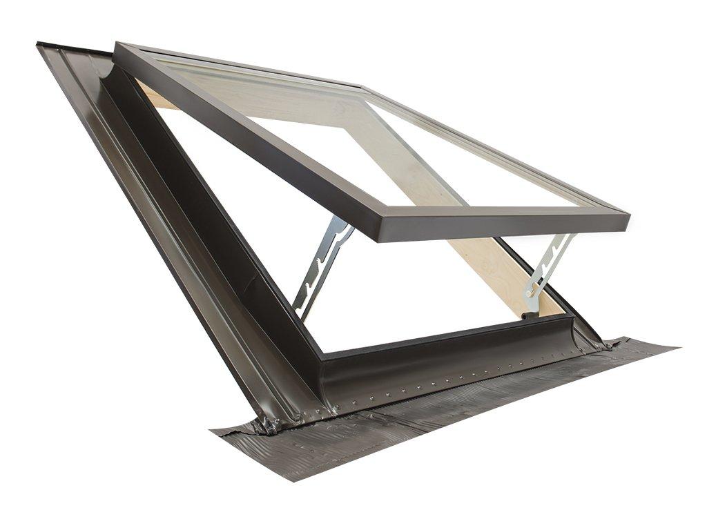 Claraboya - Ventana para tejado'CLASSIC VASISTAS' (apertura tipo Velux) Tragaluz por el acceso al techo/Doble vidrio (45x75 Base x Altura) ELUMA