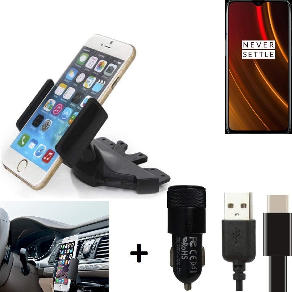 K-S-Trade® Top Set Compatible con OnePlus 6T McLaren Edition Soporte Ranura De CD Smartphone Coche para Los Dispositivos De Navegación/Teléfonos Inteligentes Montaje De La Radio Hecho Smartphone: Amazon.es: Electrónica