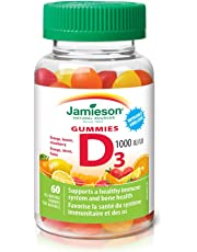Jamieson Vitamin D3 Gummies 1,000 IU - Orange, Strawberry, Lemon