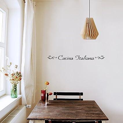 Amazon.com: Home Quotes Wall Stickers Cucina Italiana for ...