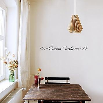 Amazon.com: Home Quotes Wall Stickers Cucina Italiana for Kitchen ...