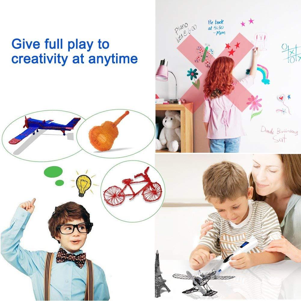 3D Pen Professioneller 3D-Drucker Pen zum /Überdrucken von Printserver mit UV-Lichth/ärtung und LCD-Display das Geschenk f/ür Kinder Kunst in dekorativen Zeichnungen