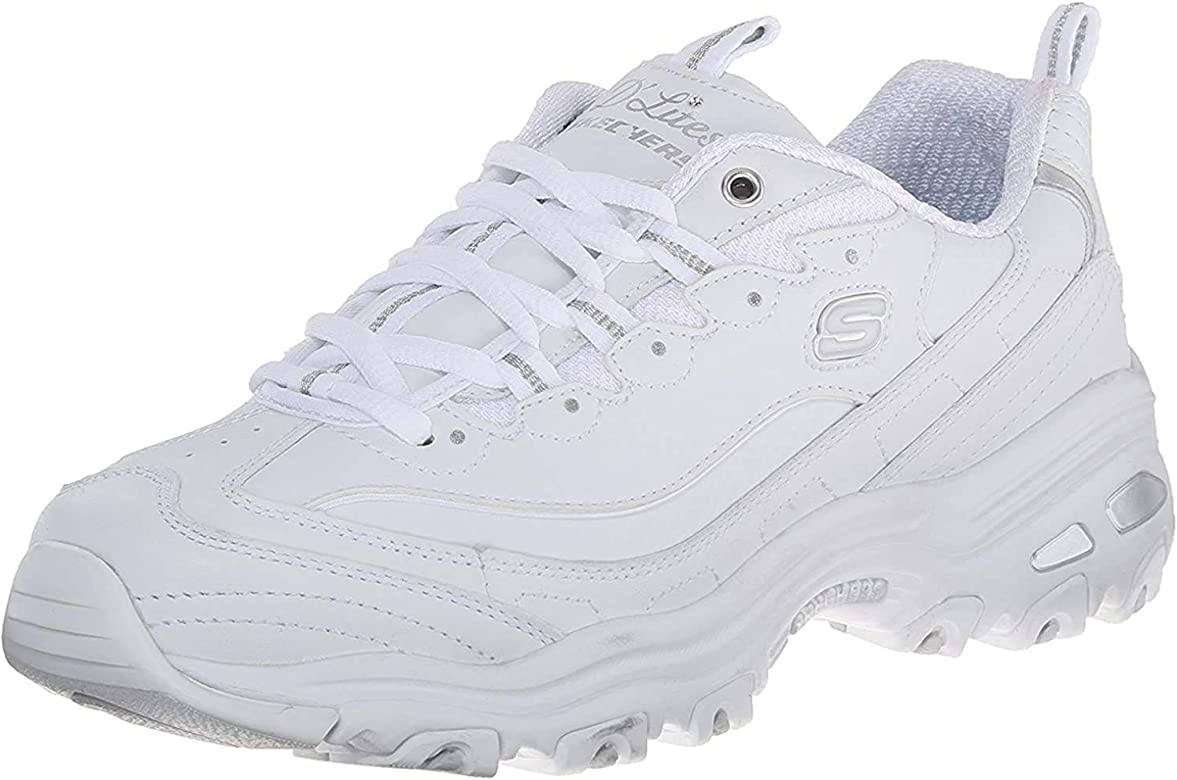 Skechers 11936, Zapatillas para Mujer, Blanco (White/Silver), 35 EU: Amazon.es: Zapatos y complementos