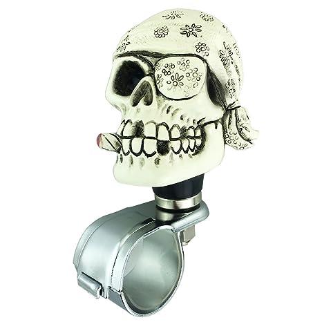 Steering Wheel Spinner Suicide Knob Skull Car Wheel Spinner Power Handle Suicide Steering Assist Knob for Vehicles