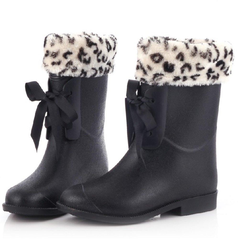 Dfghbn Überschuhe Mattierte Fliegen Regen Schuhe Schuhe Schuhe PVC Mittelrohr Damen Stiefel Outdoor Gartenarbeitsschuhe (Größe   37 1 3 EU) 1cf6e0