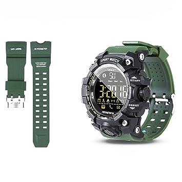 Woopower Sports Smart Reloj Bluetooth IP68 impermeable con cámara remota rastreador de fitness Wearable tecnología reloj ...