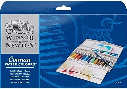 Winsor & Newton Cotman - Pack de 12 tubos de pintura para acuarela de 8 ml: Amazon.es: Oficina y papelería