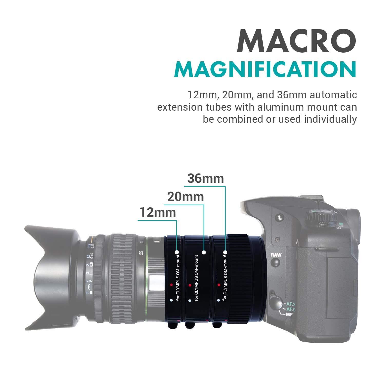 Movo AF - Juego de Tubos de extensión Macro para cámara réflex ...