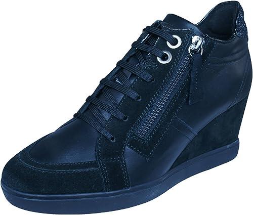 Geox D Eleni C Womens Leather Wedge