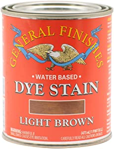 General Finishes Water Based Dye, 1 Pint, Light Brown