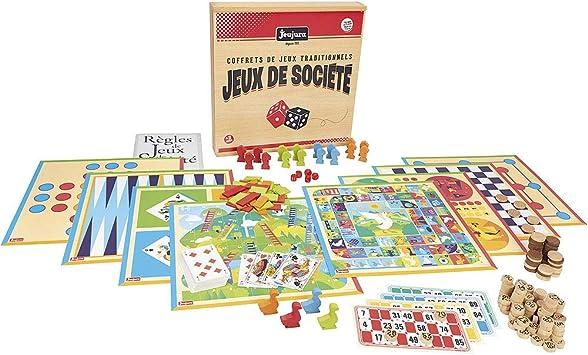 Jeujura – 8128 – Caja de Juego de Tablero Tradicional – Madera: Amazon.es: Juguetes y juegos
