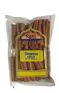 Rani Cinnamon Sticks 7oz (200g) ~ 22-26 Sticks 3 Inches in Length Cassia Round ~ All Natural | Vegan | No Colors | Gluten Free Ingredients | NON-GMO