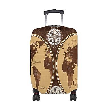 Amazon alaza world map compass ship luggage travel suitcase alaza world map compass ship luggage travel suitcase cover case protector gumiabroncs Image collections